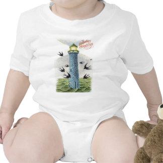 Olvídeme no faro del pájaro cantante traje de bebé