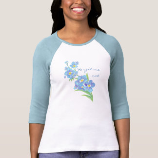 Olvídeme no, flor del jardín de la acuarela polera