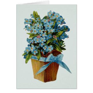 Olvídeme no las flores tarjeta de felicitación