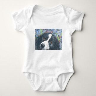 Olvídeme no perro del border collie body para bebé