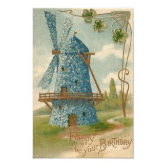 Olvídeme no trébol del molino de viento arte fotografico
