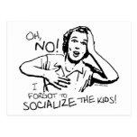 Olvidó la socialización tarjetas postales