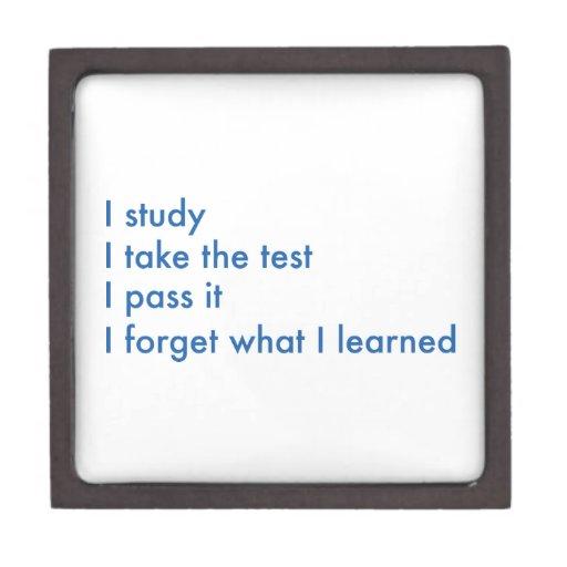 Olvido lo que aprendí cajas de recuerdo de calidad