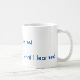 Olvido lo que aprendí taza de café