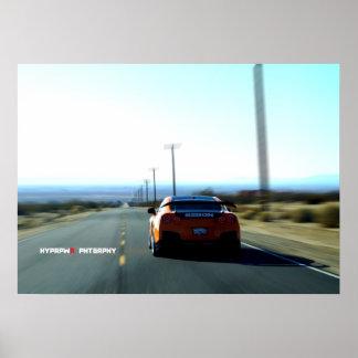"""Olvido"" Nissan GT-R anaranjado pesadamente modifi Posters"