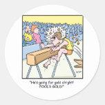 Olympamania 25 classic round sticker