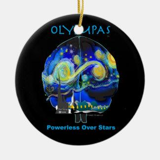 Olympas Starry Night Ceramic Ornament