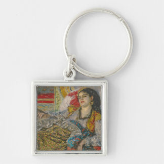 Olympia, 1863 (oil on canvas) Silver-Colored square keychain