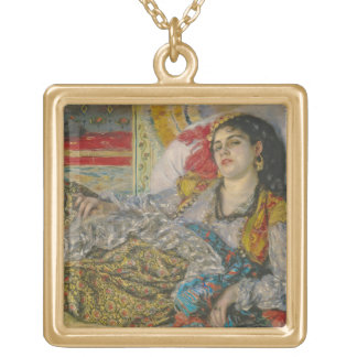 Olympia, 1863 (oil on canvas) square pendant necklace