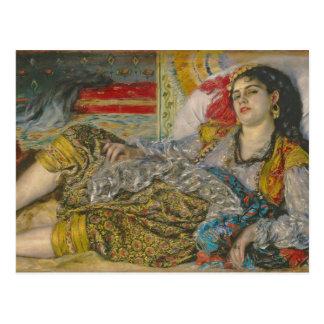 Olympia, 1863 (oil on canvas) postcard