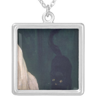 Olympia, 1863 square pendant necklace