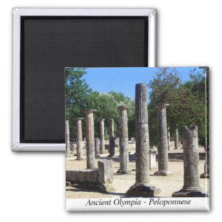 Olympia antiguo - Peloponeso Imán Cuadrado