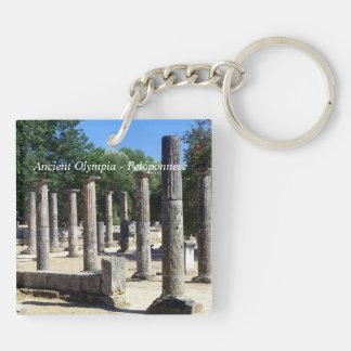 Olympia antiguo - Peloponeso Llavero Cuadrado Acrílico A Doble Cara