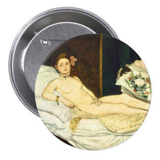 Olympia by Edouard Manet Button