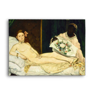 Olympia by Edouard Manet Envelope
