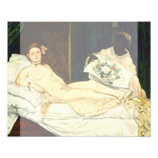 Olympia by Edouard Manet Flyer
