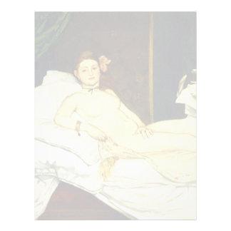 Olympia by Edouard Manet Letterhead