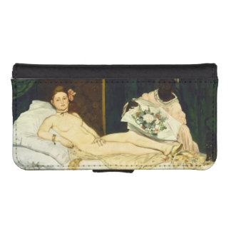 Olympia by Edouard Manet Phone Wallets
