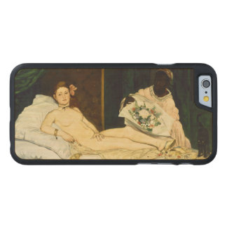Olympia by Edouard Manet Carved® Maple iPhone 6 Slim Case
