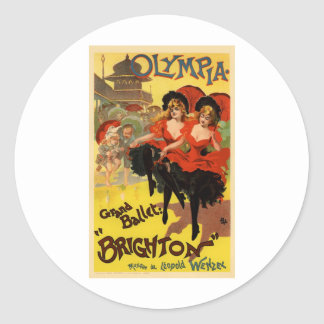 Olympia Grand Ballet Brighton Classic Round Sticker