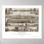 Olympia, mapa panorámico de WA - 1903 Póster