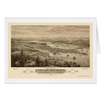 Olympia, WA Panoramic Map - 1879 Card