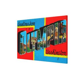 Olympia, Washington - escenas grandes 2 de la letr Lona Estirada Galerías