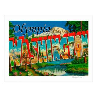 Olympia, Washington - Large Letter Scenes Postcard