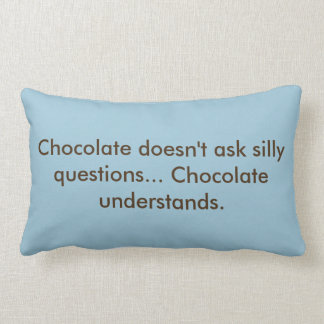 "Olympian ""Chocolate Understands"" Long pillow"