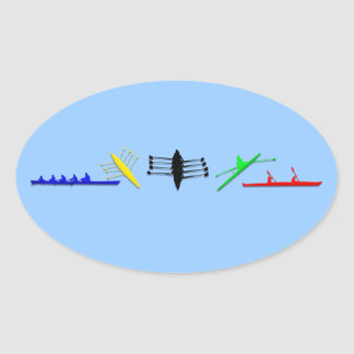 Olympian Mens Athlete Rowing Womens Sports Oval Sticker