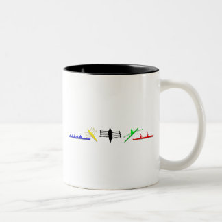 Olympian Mens Athlete Rowing Womens Sports Two-Tone Coffee Mug