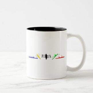 Olympian Mens Athlete Rowing Womens Sports Two-Tone Coffee Mug