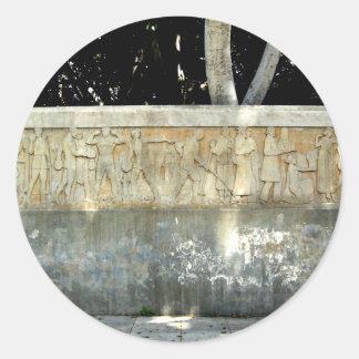 Olympian Mural Classic Round Sticker