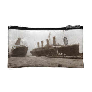 Olympic and Titanic Makeup Bags