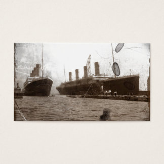 Olympic and Titanic Business Card