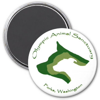 Olympic Animal Sanctuary 3 Inch Round Magnet