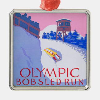 Olympic Bobsled Run Metal Ornament