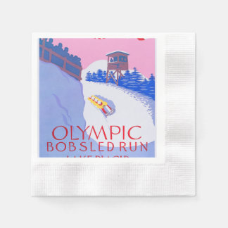 Olympic Bobsled Run Paper Napkin