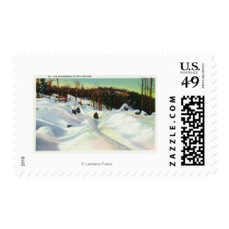 Olympic Bobsled Run View on Mt. Van Hoevenberg Stamp