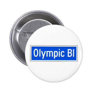 Olympic Boulevard, Los Angeles, CA Street Sign Pinback Buttons