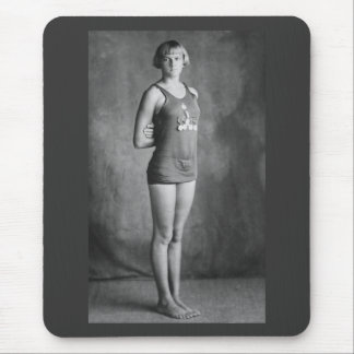 Olympic Champion Swimmer, 1920s Mouse Pad