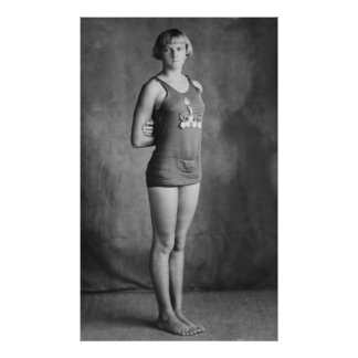 Olympic Champion Swimmer, 1920s Poster