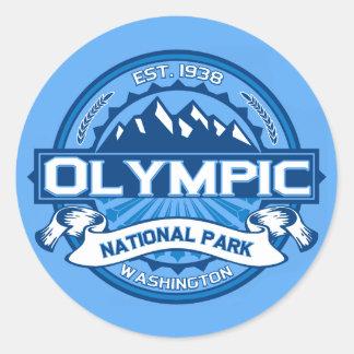 Olympic Cobalt Round Stickers