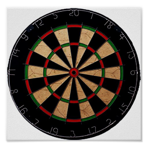 Olympic Dart Board Poster