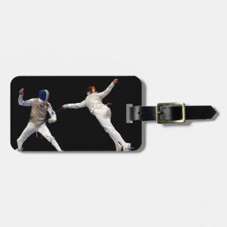 Olympic Fencing Lunge and Parry Bag Tag