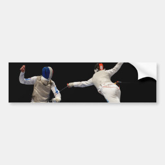 Olympic Fencing Lunge and Parry Car Bumper Sticker
