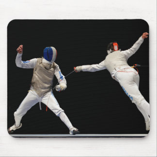 Olympic Fencing Lunge and Parry Mouse Pad