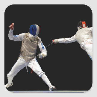 Olympic Fencing Lunge and Parry Stickers