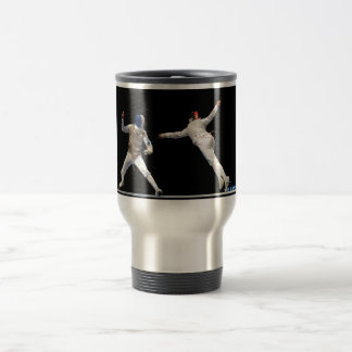 Olympic Fencing Lunge and Parry Travel Mug