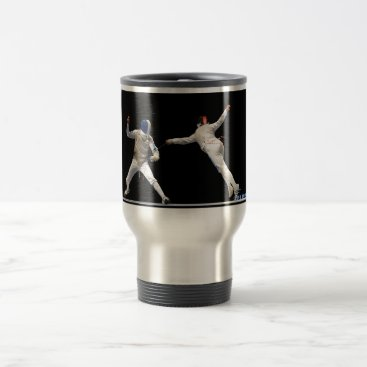 Christmas Themed Olympic Fencing Lunge and Parry Travel Mug